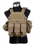 Tactical Airsoft Military 6094 style Plate Carrier Mag Pouches