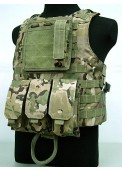 USMC Molle Combat Assault Plate Carrier Vest Multi Camo